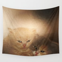 kittens Love Wall Tapestry