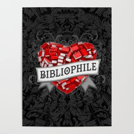 Bibliophile Heart Poster