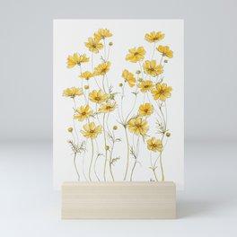 Yellow Cosmos Flowers Mini Art Print