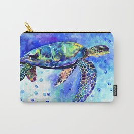 Sea Turtle, Underwater Scene Carry-All Pouch