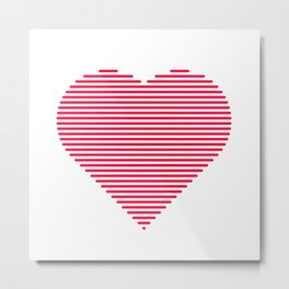A heart of lines Metal Print