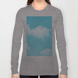 Aqua Blue Clouds Long Sleeve T-shirt