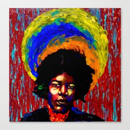 Hendrix Painted Portrait Canvas Print