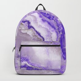 Ultra Violet and Gray Marble Agate Quartz Backpack