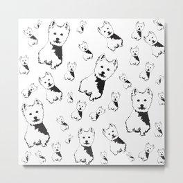 West Highland Terrier, Westie, Metal Print
