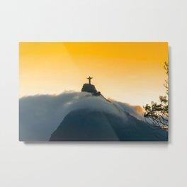 Dusk over Rio de Janeiro Metal Print