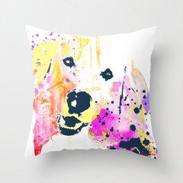 Lady Bird the Golden  Throw Pillow