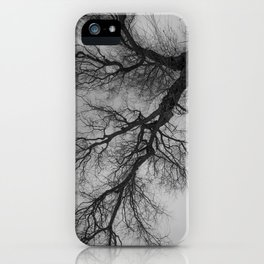 Lungs of the Earth | Nature Photography | Weeping Willow | Black and White | black-and-white | bw iPhone Case