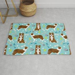 Border Collie Dog Toys - red border collie dog, border collie blanket, border collie bedding, cute d Rug