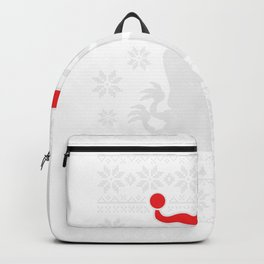 Ugly Christmas print TRex For Dinosaur Fan graphic Backpack