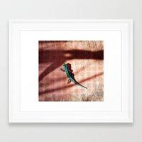 lizard Framed Art Prints featuring Lizard by AhaC