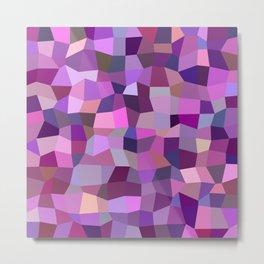 Purplish tile mosaic Metal Print