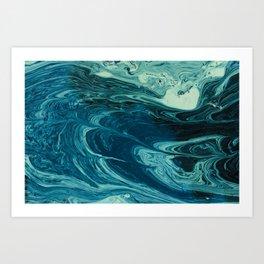 deep dirty pool texture Art Print
