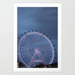 Orlando Eye at Night Art Print