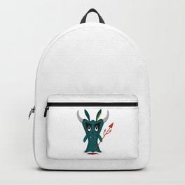 funny halloween blue ghost zombie devil horns Backpack