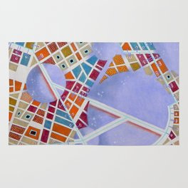 The cities of the Moon Rug