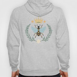 Queen Bee with Gold Crown and Laurel Frame Hoody