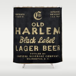 Old Harlem Lager Beer vintage advertisment poster Shower Curtain
