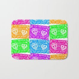 Day of the Dead Sugar Skull Papel Picado Flags Bath Mat