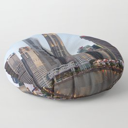 Night on the River Floor Pillow