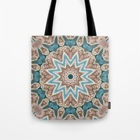 britney Tote Bags featuring Britney Spears by Celebrity Mandala