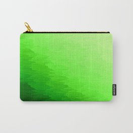 Green Texture Ombre Carry-All Pouch