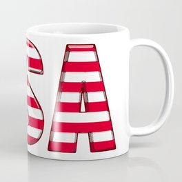 United States Font with American Flag Coffee Mug