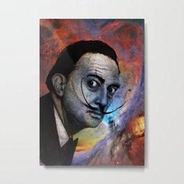 Salvador Dalí. (colored version) Metal Print