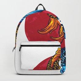 Koi carp art Ying & Yang Fish lover  Backpack