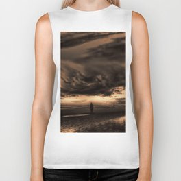 Another place at sunset Biker Tank
