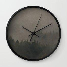 Autumn Moods Aged Photo Print Wall Clock