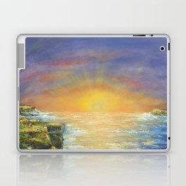 Gozo island, Malta. Malta sunset seascape Laptop & iPad Skin
