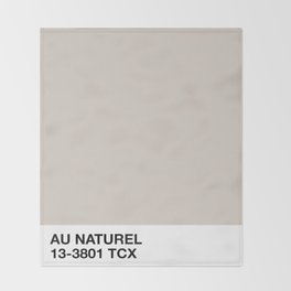 au naturel Throw Blanket