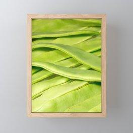 Green beans Framed Mini Art Print