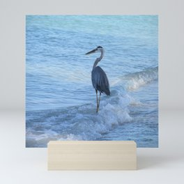 Oceans Great Blue Heron Mini Art Print