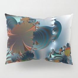 Follow me! -- Creatures in a fractal landscape Pillow Sham