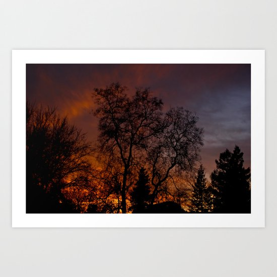 Sunset on the Front Porch Art Print