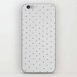 Gray Polka Dot iPhone Skin