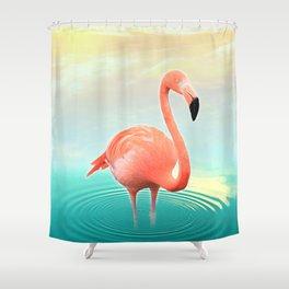 Sunset Flamingo Shower Curtain