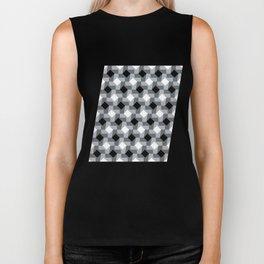 Blurry Houndstooth Biker Tank