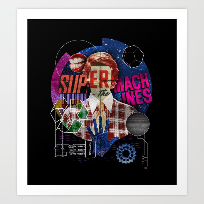 Super Machines Art Print