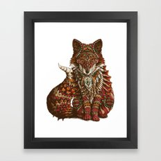 Red Fox (Color Version) Framed Art Print