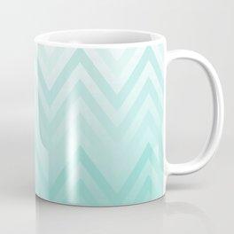 Fading Teal Chevron Coffee Mug