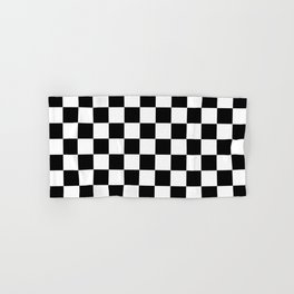 Traditional Black And White Chequered Start Flag Hand & Bath Towel