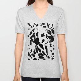 Dalmatian Dog Optical Illusion (Spotted pattern) Unisex V-Neck