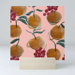 Satsumas and Currants Print Mini Art Print