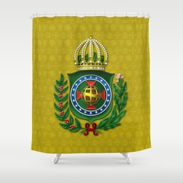 Dom Pedro II Coat of Arms Shower Curtain