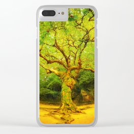 Golgotha Tree Clear iPhone Case