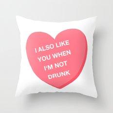 Drunk valentine Throw Pillow