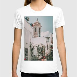 Southern Italy Flowers Town Travel T-shirt